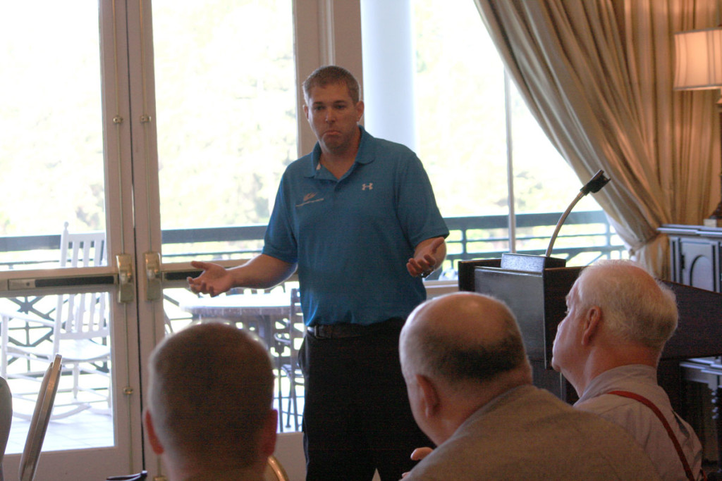 Mac Mcalpine addressing a question from NCDOT's Warren Cooksey