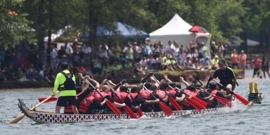 Charlotte Asian Festival's Dragon Boat race. COURTESY OF ANDREA LEE