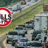 Traffic on I-77 near Exit 30 at Davidson.