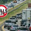 Traffic on I-77 near Exit 30 at Davidson.