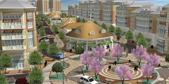 Cornelius Bromont changed the name of the Village of Lake Norman to  Augustalee in 2008. The $515 million project included 655,000 square feet of restaurant/retail space, 810,000 square feet of office space, two hotels and 400 residential condominiums.