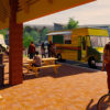 Rendering of the food truck plaza