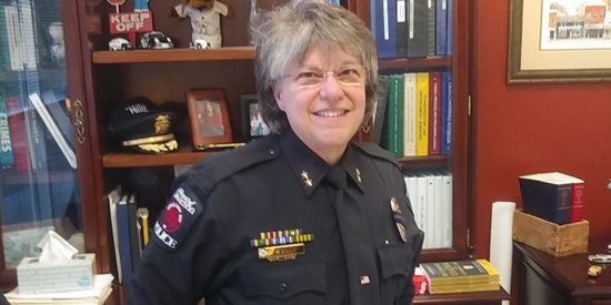 DAVIDSON'S CHIEF OF POLICE IS KNOWN FOR SOLVING AN 18 YR OLD COLD CASE