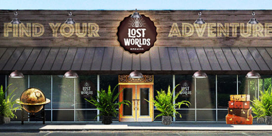 LOST WORLDS BREWERY DFRAFT OF FRONT ELEVATION